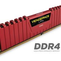 Corsair Vengeance LPX 8GB (1x8) DDR4 RED (CMK8GX4M1A2400C14R)