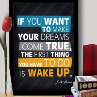 hiasan dinding poster + pigura kata kata motivasi (kode 5) A3