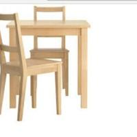 Meja kursi makan minimalis kayu jati , kursi cafe, restaurant
