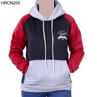 Jaket / Sweater Wanita HRCN Original 100% - HRCN200 HITAM KOMB