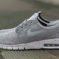 Sepatu Sneakers NIKE Stefan Janoski Max GREY Premium Original Abu2