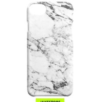 Case Samsung Galaxy S3 S4 S5 S6 S7 Edge White Marble Cover Casing Hard