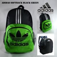Tas Ransel Adidas Backpack Sekolah Pria Adidas Softback Black Hijau