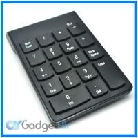 Wireless Portable Numeric Keypad Numpad 2.4GHz 10 Meter - Black