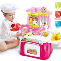 0212-MAINAN ANAK COOKING HAPPY KITCHEN PLAY SET PINK
