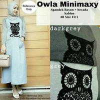 OWLA MINIMAXY (RZ) / dress cantik wanita hijab lengan panjang lucu