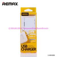 REMAX USB WALL TRAVEL CHARGER 2 PORT 34A - MURAH ABIS | Harga Gr