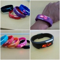 Jam tangan LED magnet Sport Watch Gelang slim