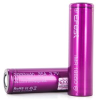 Efest Purple IMR 18650 Li-Mn Battery 3.7V 35A 18650 flat top 3000mAh.