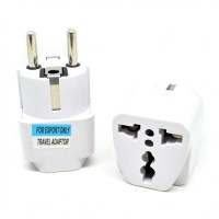 Universal EU 2 Round Plug Adapter to 3 Pin Plug terlaris