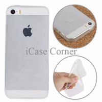 PROMO TERBATAS Smooth Surface Translucent TPU Case for iPhone 5/5s/SE