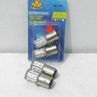 Bohlam / Lampu Rem LED 15 Led K2 Bayonet / Putar MERAH..NEW LED