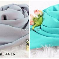 TERBATAS Pashmina Hijab Jilbab Kerudung Polos Warna Putih Fanta Abu To