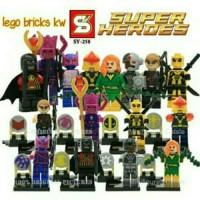 Jual GROSIR Minifigures Heroes Deadpool LEGO SUPERHERO Red Robin Galactus Murah