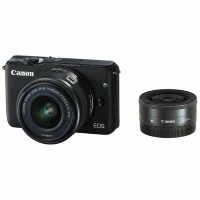 New Kamera Mirrorless Canon EOS M10 Double Lensa Kit 15-45mm + 22mm