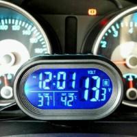 Volt Meter Digital, Jam, Suhu, 2 Back Light Volt Meter VST 4 In 1 Xtreme