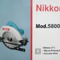 harga Mesin Gergaji Potong Kayu / Circular Saw / Circle NIKKON 5800 Tokopedia.com