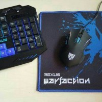 Keyboard Mouse Gaming Rexus Warfaction Vr1 Backlight