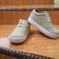 Jual Sepatu Anak Laki-Laki Murah Trendy Casual Stylist Cream Karet Murah