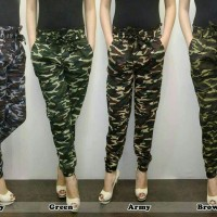 Jual celana jogger/joger army katun stretch cewe/wanita murmer Murah
