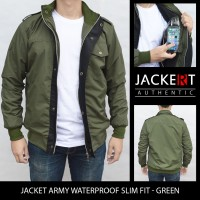 Jual Jaket Army Parasut - Slim Fit & Waterproof - Green Murah