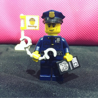 Lego Original Minifigure Policeman Series 9 Police Cop Officer