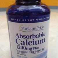 Absorbable Calcium 1200 mg Vit D 1000 IU-100 ISI Puritan US
