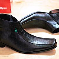 Sepatu Casual / Sepatu Kickers Pantofel Kulit Hitam Kerja Kantor Pria