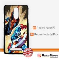 CAPTAIN AMERICA VS SPIDERMAN Y0204 Xiaomi Redmi Note 3 / Note 3 Pro Cu