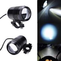Lampu tembak sorot led sepeda motor racing U1 3 mode cahaya jarak jauh