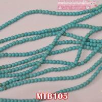 MTB105 Mote Batu Pirus Biru uk 4mm (1 Bks isi 12 Butir)