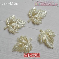 MP5701 Mote Pear Daun Gurat Sirip 3 uk 4x4.7cm (Satuan)