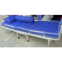 folding bed foldingbed rangka besi / ranjang besi lipat bandung uk 180