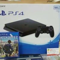 Ps4 Slim Ori New 500Gb Garansi Resmi Sony Paket Watch Dogs2 New