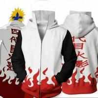 Jaket / Sweater Anime Naruto Yondaime Hokage Sage Mode Putih-Hitam