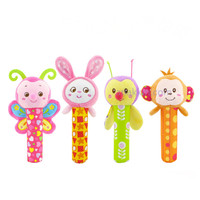 Happy Monkey Sunshine Garden Rattle Stick / mainan stik bayi