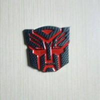 Jual Emblem Logo Transformers Autobots Karbon Murah