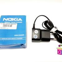 Charger Nokia Kecil Original HP N95 Ujung Kecil Lama Jadul Ring Putih