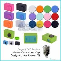 TMC Silicon / Silicone Protective Case + Lens Cap For Xiaomi Yi