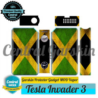 Garskin Mod vapor Tesla Invader III/3 - Bendera JAMAIKA