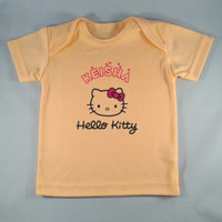 Baju Kaos Bayi Custom Hello Kitty -Orange- Gambar/tulisan bebas