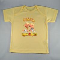 Baju Kaos Bayi Custom karakter Ipin Upin -Kuning- Gambar/tulisan bebas