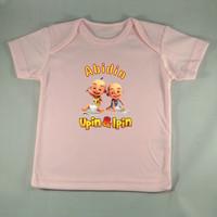 Baju Kaos Bayi Custom karakter Ipin Upin - Pink - Gambar/tulisan bebas