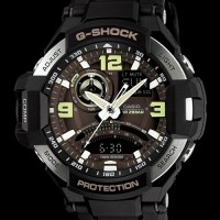 jam tangan pria Casio G-shock GA-1000-1B Gravity Master Original