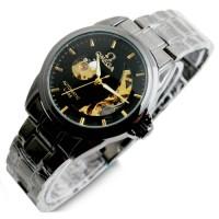 harga Jam Tangan Pria Omega Skeleton Eclipse Chain Black Gold Tokopedia.com