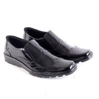 Sepatu Pria Formal Pantofel Hitam KULIT GS Sepatu Kerja Pesta Kantor