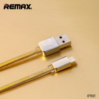 Jual Kabel Data Remax Gold Lightning Braided for iPhone 5 6 7 Murah