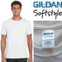 harga Kaos Baju Gildan Softstyle White 63000 Putih Original GROSIR S M L XL Tokopedia.com