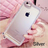 Casing Hp Cover Iphone 5 5s 6 6s 6 Plus 6s Plus Logo Apple Bling
