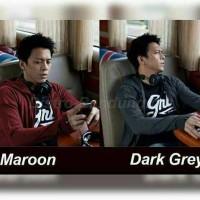 jaket rajut ariel warna maroon, hitam ,grey , dark grry